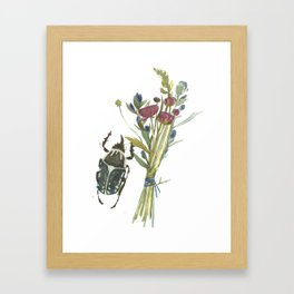 Beetle and Flowers No. 2 Framed Art Print