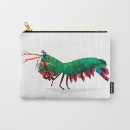 Geometric Abstract Peacock Mantis Shrimp  Carry-All Pouch