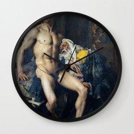Jules Bastien-Lepage - Priam aux pieds d'Achille Wall Clock