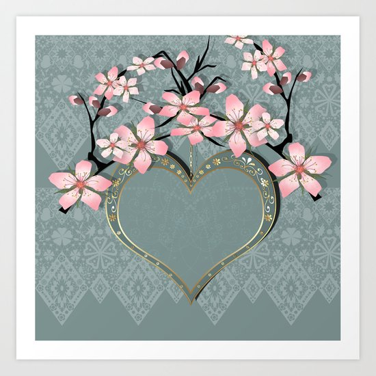 Love with the heart . Art Print