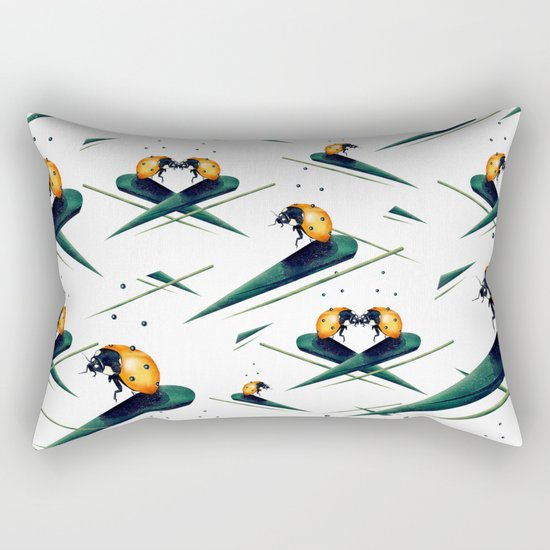 Bugs in Love (Pattern) Rectangular Pillow