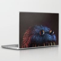 cookie Laptop & iPad Skins featuring Cookie Monster by Adrián Retana