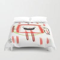monster Duvet Covers featuring Monster by Wouter Goudswaard