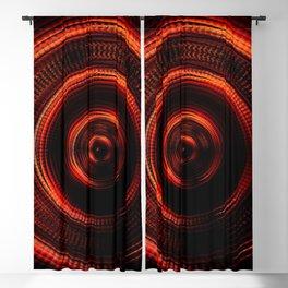 Red Shockwave Blackout Curtain
