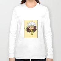 rogue Long Sleeve T-shirts featuring Chibi Rogue by artwaste