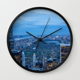 New York City and Central Park Wall Clock