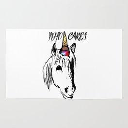 Who Cares Unicorn Rug