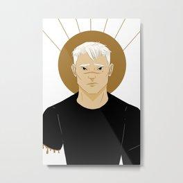 shiro | white Metal Print
