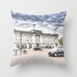 Buckingham Palace Snow Throw Pillow