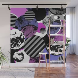 an-ARC-hy! (Abstract, geometric, sphere, circle, pop art, chaotic, eclectic, random artwork) Wall Mural