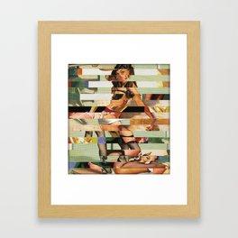 Glitch Pin-Up Redux: Randi Framed Art Print
