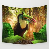toucan Wall Tapestries featuring Toucan by MG-Studio