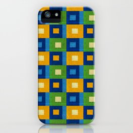 Summer laziness. Squares inside each other. iPhone Case