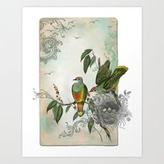 Nest Builders Art Print
