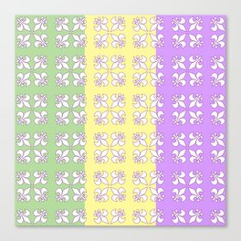 Tri colored MG with white fleur de lis Canvas Print