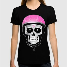 Day of the Dead Biker Skull T-shirt