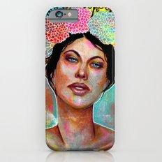 Flower Rainbow Girl in Mixed Media iPhone 6s Slim Case