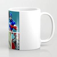 avenger Mugs featuring Avenger Team by Carrillo Art Studio