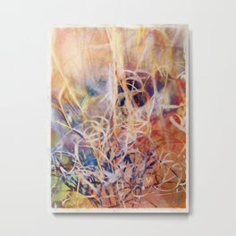 Tangled Desert Grass on a Windy Day Metal Print