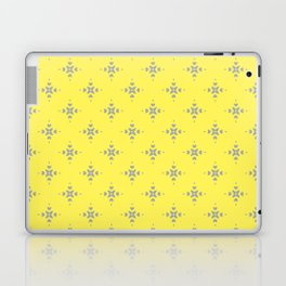 Ornamental Pattern with Lemon and Grey Yellow Colourway Laptop & iPad Skin