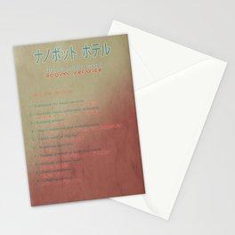 The Nanobot Hotel Room Service Pamphlet Stationery Cards