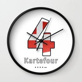 Kartefour - Navy Code Wall Clock