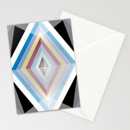 Muted tones geometric Stationery Cards