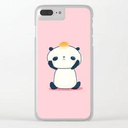 Sad Panda with Pan de Sal Clear iPhone Case