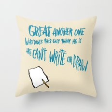 SELF-DEPRECATION HAIKU Throw Pillow