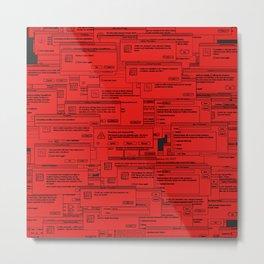 Designer Dialogues PS A Red Metal Print