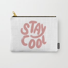 Stay Cool Vintage Pink Carry-All Pouch