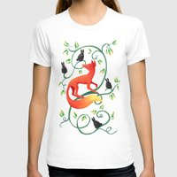 bunnies T-shirts featuring Bunnies and a Fox by Freeminds