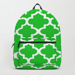 Arabesque Architecture Pattern In Summer Green Backpack