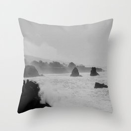 Misty Cliffs of the Soul Throw Pillow