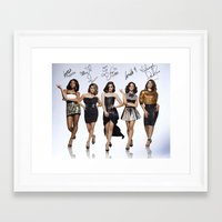 fifth harmony Framed Art Prints featuring Fifth Harmony  by stephanie