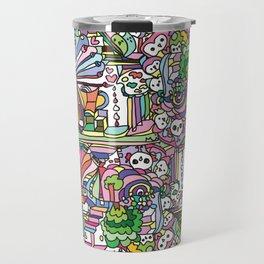 doodle owl village Travel Mug