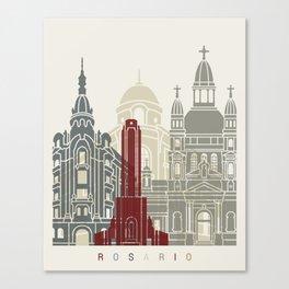 Rosario skyline poster Canvas Print