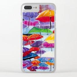 Diane L - Sous la pluie Clear iPhone Case