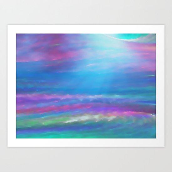 Dawn on the Sea Art Print