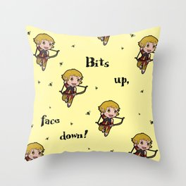 Bits up, face down! Sera Throw Pillow
