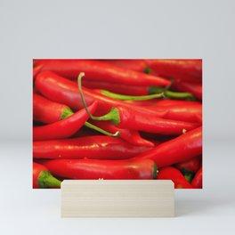 Red hot chilli peppers Mini Art Print