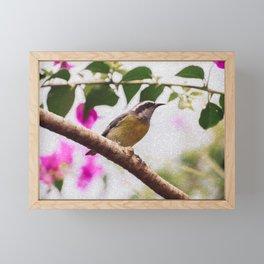 Bird - Photography Paper Effect 008 Framed Mini Art Print