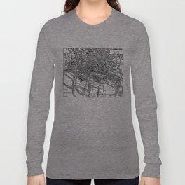 Vintage Map of Hamburg Germany (1911) Long Sleeve T-shirt