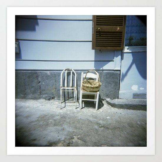 Lonely Chairs #3 Art Print