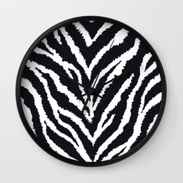 Zebra fur texture Wall Clock