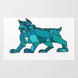 Bobcat Prowling Mosaic Rug