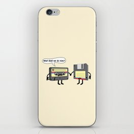 The Obsoletes (Retro Floppy Disk Cassette Tape) iPhone Skin