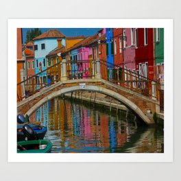 Bridge of Reflection Art Print