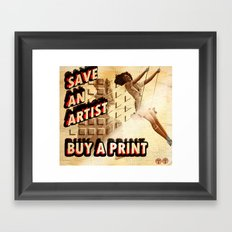 Shameless Self Promotion #1 Framed Art Print