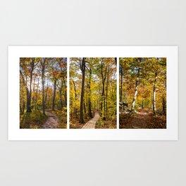 Autumn Triptik Art Print